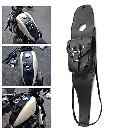 Motorcycle Gas Tank Leather Bag Dash Console Center Pouch Black Bag Leather for Harley Sportster XL 883 1200