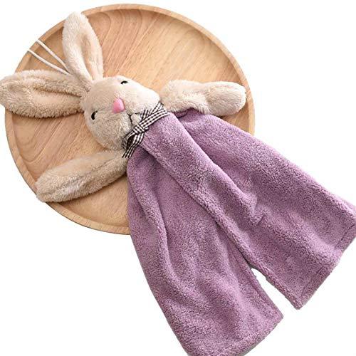 Xinjieda Conejo Animal de la Historieta del Terciopelo de Lavado de Toallas Aceite del Pelo Absorbente Toalla de Tela Cocina Limpia