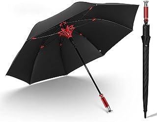 Shilanmei 長傘 紳士傘 ゴルフ傘 大きい ワンタッチ 丈夫 撥水 耐風 8本骨 大型 軽量 梅雨対策 晴雨兼用 車 おしゃれ (レッド)