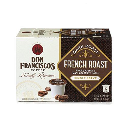Don Francisco's French Roast Dark Roast, Single Cup Coffee, 12 ct