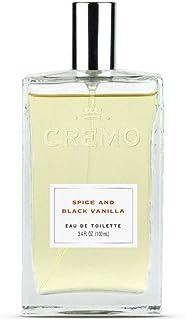 Cremo Spice & Black Vanilla Cologne Spray, An Explosion of Vibrant Spices, Tobacco and Black Vanilla, 3.4 Oz