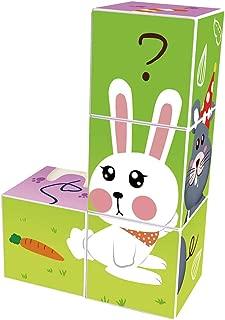 Agirlgle Magnetic Blocks 3D Puzzles for Kids Baby Toddlers Blocks Learning Educational Toys Magic Cube Jigsaw Puzzle Games Building Blocks Kits Brain Teaser for Children Beginner Kids (4pcs pet)