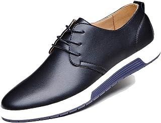 Scarpe da Uomo in Pelle Casual Traspiranti con Stringhe Stringate Sneakers Basse Sneakers da Lavoro da Lavoro con Mocassini