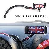 FIEMACH Mini Cooper Support de téléphone Portable Pliable Invisible à 360 ° pour Mini Cooper R55 R56 R57 R60 R61 (Mini R)