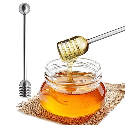 Honig-Dipper - Sirup Dipper Stick Edelstahl Honiglöffel Zauberstab für Honigtopf Behälter A