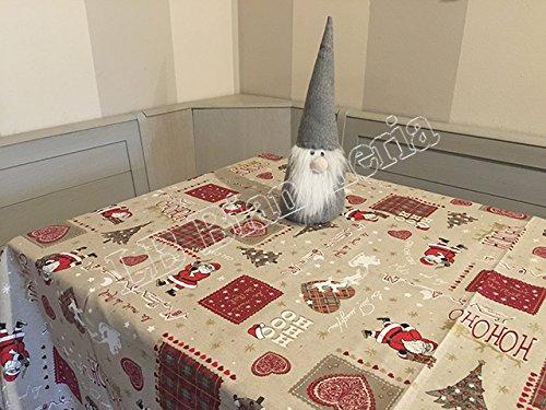 R.P. Tovaglia Natale Cucina Soggiorno Oh Oh Oh Babbo Natale Rettangolare cm 140x240, 12 Persone -...