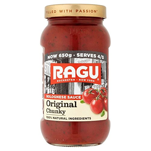 Ragu Chunky Bolognese Pasta Sauce (650g) - Packung mit 2