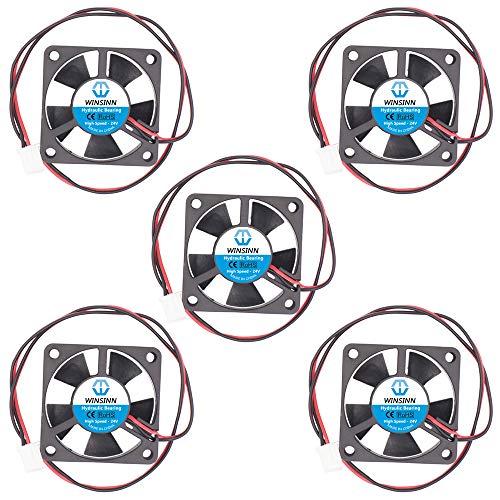WINSINN Ventilador de 35 mm 24 V sin escobillas 3510 35 x 10 mm, alta velocidad (paquete de 5 unidades)