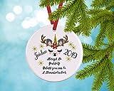 Dia456yris LLama llamaunideer Adorno de Navidad personalizado 2019, regalo para niños,