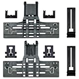 Funmit W10546503 Upgraded Upper Rack Adjuster Kit Replacement for Whirlpool Kenmore Kitchen-Aid Dishwasher with W10195839 & W10195840 & W10250160 (Total 8Pcs)