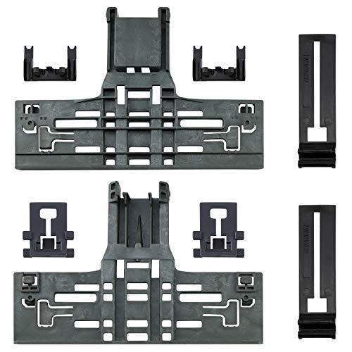 Upgraded W10546503 Upper Rack Adjuster & W10195840 Dishwasher Top Rack Adjuster & W10195839 Rack Adjuster & W10250160 Arm Clip-Lock (8pcs) Replacement for Whirlpool Kitchenaid Dishwasher