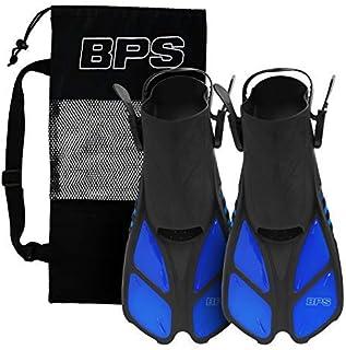 BPS Short Blade زعانف سباحة/شباشب قابلة للتعديل مع مجموعة الغوص الكاملة للسباحة والغطس والغوص