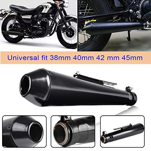 Universal 38mm / 40mm / 42mm / 45mm Motorrad Cafe Racer Mattschwarz Vintage Auspuff Endrohr Schalldämpfer Für Harley Bobbers H-o-n-d-a CRF230F CRF150F