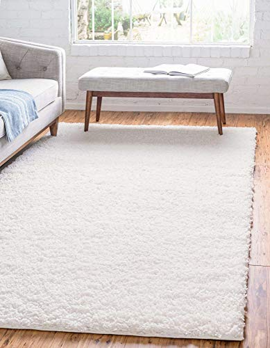 Unique Loom Davos Collection Modern Luxuriously Soft & Cozy Shag Area Rug, 5