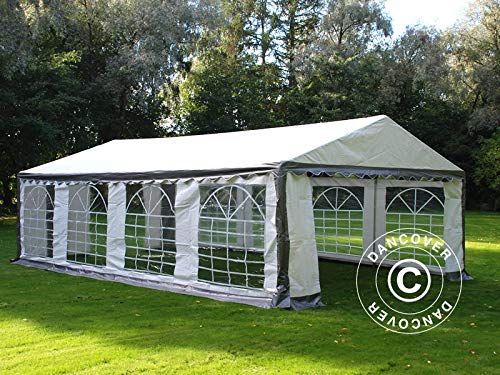 Dancover Carpa para Fiestas Carpa Eventos Plus 4x8m PE, Gris/Blanco