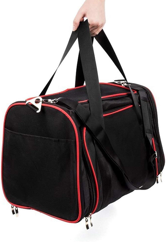 MIAOLIDP Pet bag  dog backpack  cat bag  pet cat out bag  carrying case  travel bag  double exhibition bag Pet cat carrier (Size   46x28x28cm)