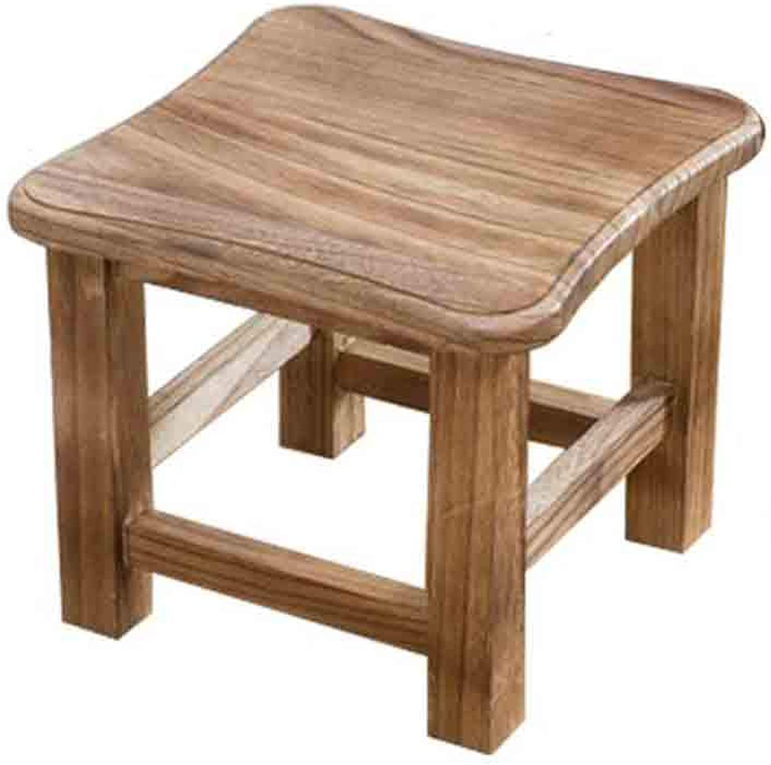 Fashion Creative Solid Wood Stool, Home Living Room seat Stool Low Stool Change shoes Bench Square Stool (color   B)