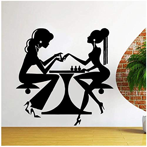 KBIASD Nail Store Wall Decals Beauty Salon Hair Manicure Vinyl Wall Stickers Hairdresser Decor Nordic Home Decoration Removable 57x57cm