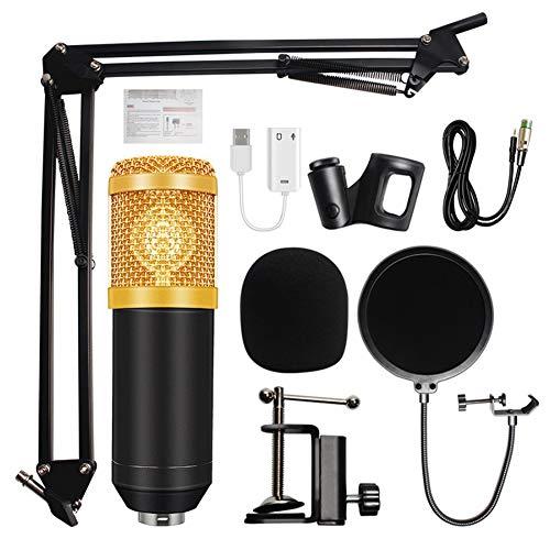 DHQSS BM 800 microfoon condensator geluidsopname microfoon met schokdemper voor radio braodcasting zingen opnemen KTV Karaoke Mic