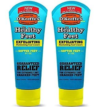 O Keeffe s Healthy Feet Exfoliating Foot Cream 3 oz Tube - 2 Pack
