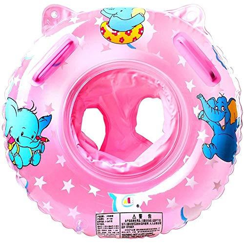 MGWA Piscina Inflable Asiento Rosa Flotante Inflable del Bebé del Anillo del Asiento Juntas Flotantes, Natación Inflable Flotante del Anillo del Asiento For Niños De 6 Meses A 6 Años, Medio Ambient