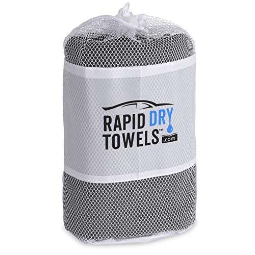 Rapid Dry Towels - The Original - Huge (59x30in) Microfiber Car Drying Towels - Better Than Any Chamois - Superb for car Detailing - Zero Wringing Out! - Dry Your car in Under Three Minutes!