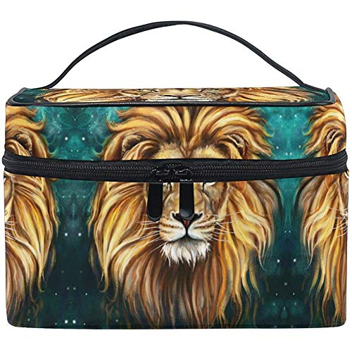 Maquillage Sac Lion Galaxy Peinture Voyage Cosmétique Sacs Organisateur Train Case Toilette Make Up