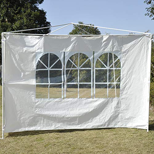 3x3m Gazebo Tent Side Panels Replaceable Side Wall Door For Outdoor Wedding Garden Party Camping Tent Event Shelter, Fully Waterproof(Blue, 2Pcs)