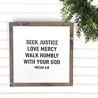 Best love mercy walk humbly bible verse Reviews