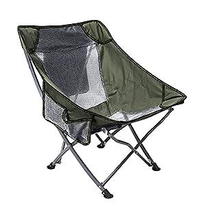 Crihome アウトドアチェア キャンプ椅子 キャンプチェア 耐荷重100kg 軽量 折りたたみ椅子 アウトドア チェア コンパクト キャンプ 椅子 携帯 イス ウルトラライト フィットチェア ロータイプ 超軽量 ポンコタンチェア (グリーン)