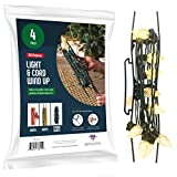 Christmas Lights Storage Holder [Set of 4] All-Purpose light cord wind up - Holiday Light Storage - Christmas light organizer For Extensions cords, garland, Beats - Made In USA