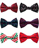 6 PACKS Elegant Adjustable Pre-tied bow ties for Men Boys