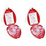 Cpr Beatmungsmaske Mit Filter,Homesupply 2 Stück CPR Tasche Rescue Maske mit aufgedruckter Ersthelfer-Anleitung und Transportbox Mund-zu-Mund Pocket-Gesichtsmaske Face-Mask mit...