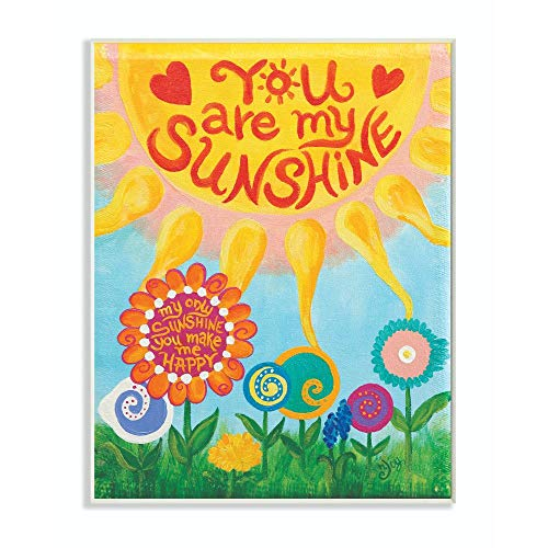 Stupell Home Décor You are My Sunshine Canvas Wall Art, 16 x 20, Multi-Color