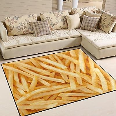 Use7Frites Zone Tapis Tapis Tapis pour Le Salon Chambre à Coucher, Tissu, Multicolore, 160cm x 122cm(5.3 x 4 Feet)