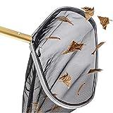 CCFCF Retino con Sacco per Pulizia Piscina- Robusto Telaio in Acciaio inossidabile-45 cm di Diametro- Pulizia Piscina per La Pulizia delle Foglie e dei Detriti della Piscina