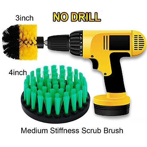 OxoxO 3in + 4in Schrubber Reinigung Power Scrubber Reinigung Bohrer Bürstensatz für Badezimmer Oberflächen Wanne, Dusche, Fliesen und Fugen