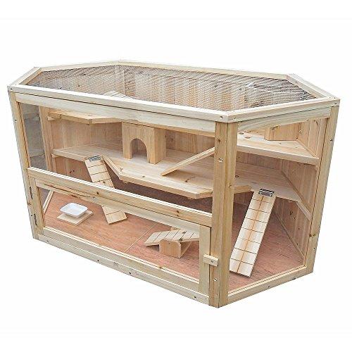 Kaninchenhaus Rattenkäfig Nagervilla Kleintierkäfig Hamsterkäfig Holz Stall Maus