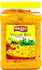Iberia's Yellow Rice is simple to prepare, cooks to fluffy perfection every time, and presents a beautiful complement to a range of meats and vegetables. Try it with chicken and asparagus or pork chops and green beans. NO MSG, No Artificial Coloring,...