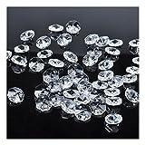 H&D - 100 piezas de 18 mm de cristal transparente con 2 agujeros octagonales para lámpara de araña de cristal
