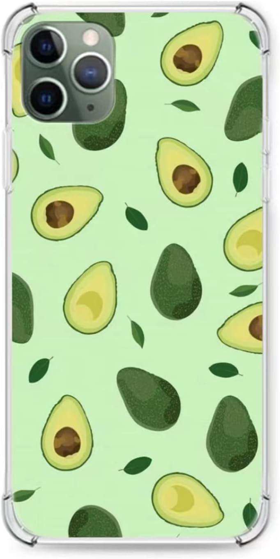 iPhone 11 Phone Case, Cute Avocado Case for iPhone 11, Cute Girls Silicone TPU Bumper Case, Slim Fit Anti Scratch Protective Cover Case for iPhone 11