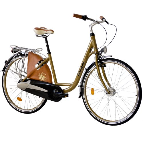 KCP 28' City Bike Alloy Bicycle CASSIOPEA Lady 3 Speed Nexus Coaster Retro Look Gold - (28 Inch)