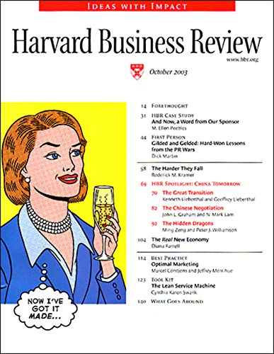 Harvard Business Review, October 2003 copertina