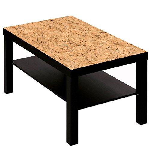 Salontafel tafel met motief afbeelding patroon kurk decor zwart