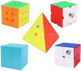 PPu hastighet kubset alien, slät och singulär ABS pyramid spegel triangel fem sidor rubiks kub för träningskit