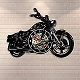 Fantasy Orologio da Parete Classico per Moto Orologio da Parete Meccanico Meccanico per Auto Orologio da Parete in Vinile Orologio da Moto Motociclista Uomo Cave Regalo