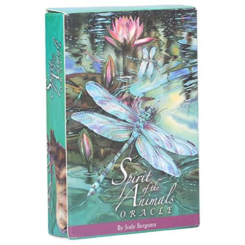 Hozee 52 x Tarot Cards, Classic Fate Adivination Fortune Telling Tarot Deck Juego de Mesa, Spirits of The Animals Tarot Cards Deck, English Rider Tarot Deck con Caja Colorida