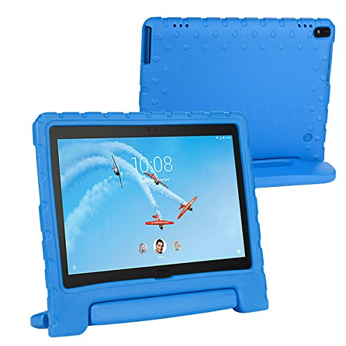 cradle HR Compatible Kids Protective New Hand stand Case for Lenovo Tab 4 10/10 Plus 10 Inch Tablet,EVA Light Weight Protective Case Shock Proof stand Cover (blue)