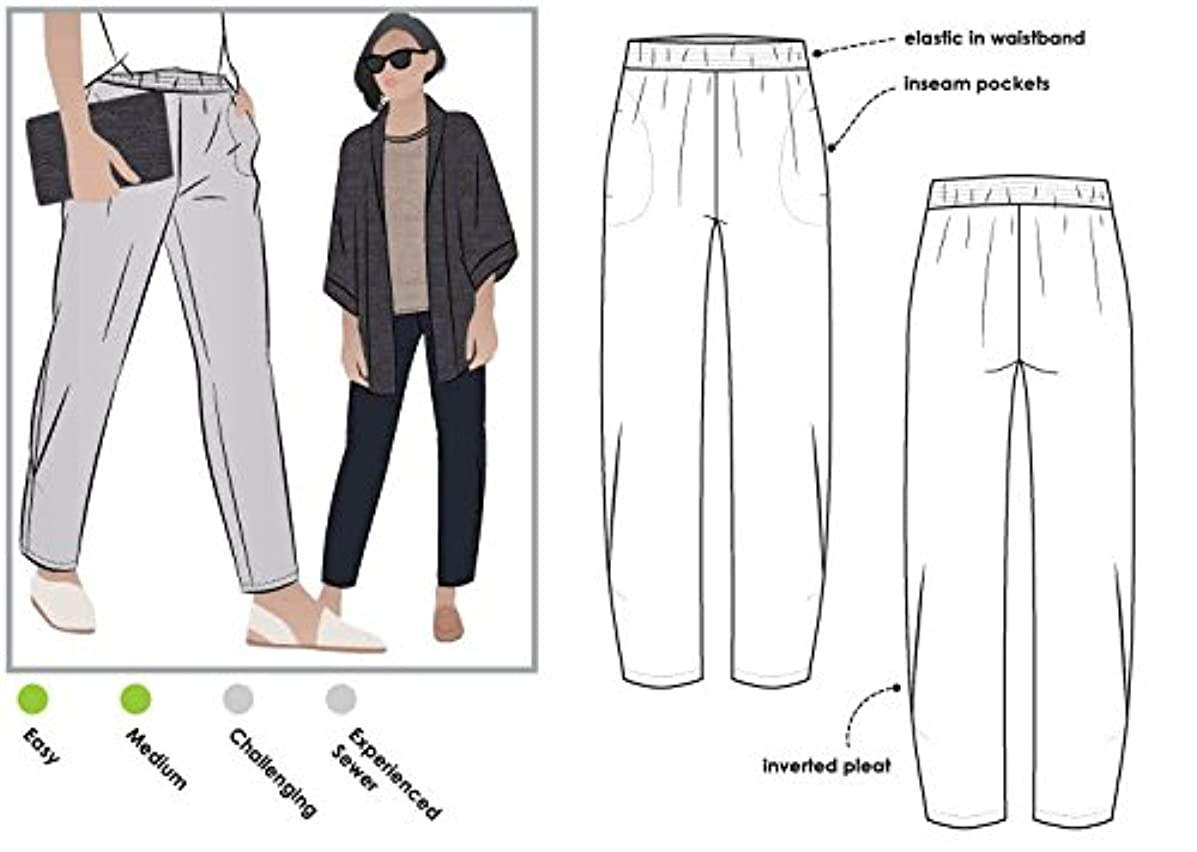 Style Arc Sewing Pattern - Besharl Pant (Sizes 04-16) - Click for Other Sizes Available