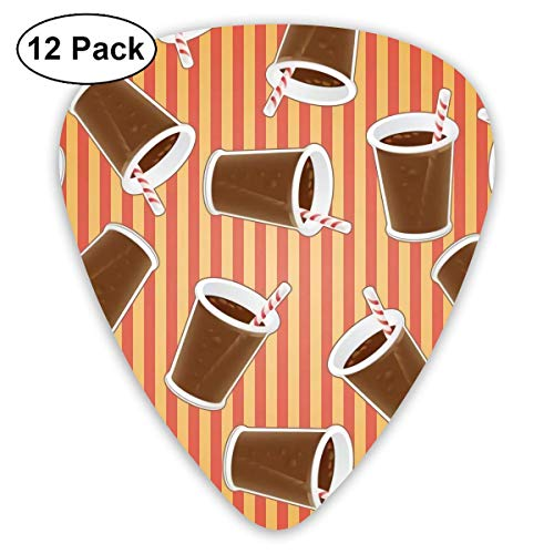 Cup Coke 12 Tablets Guitar Pick For Acoustic Electric Guitars Ukulele With Different Sizes Contain Thin,Medium,Thick Gauges
